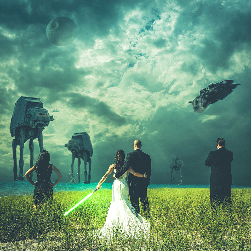 wedding star wars theme