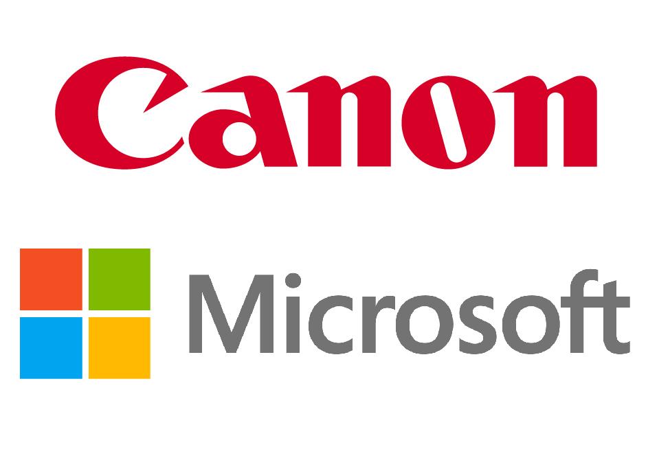 canon and microsoft