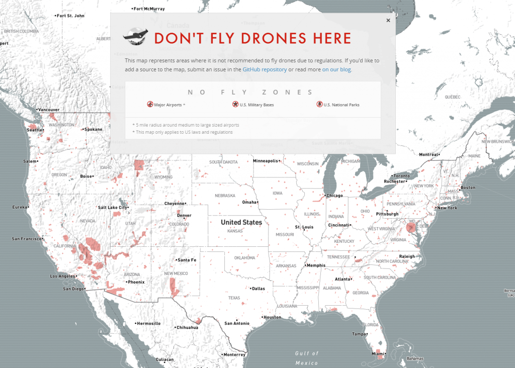 no fly drone