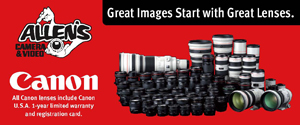 allens canon lenses Fro Approved Gear